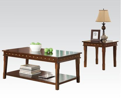 Picture of Mitra 3Pc Coffee/End Table Set in Walnut Finish