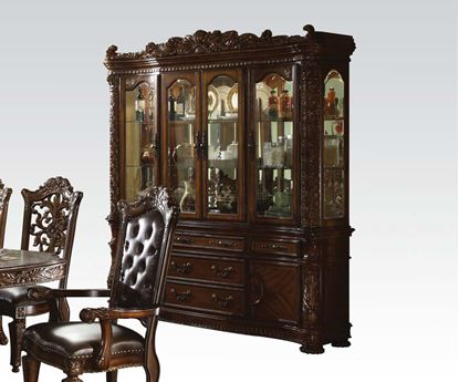 Picture of Vendome Dark Cherry Finish Formal Buffet w/ Hutch