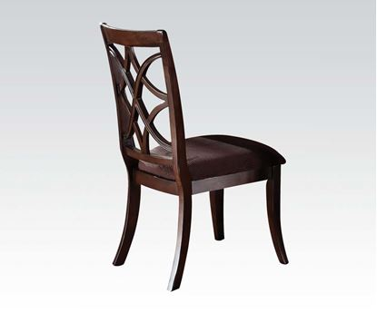 Picture of Keenan 2 Pcs. Dark Walnut Finish Side Chair    (Set of 2)