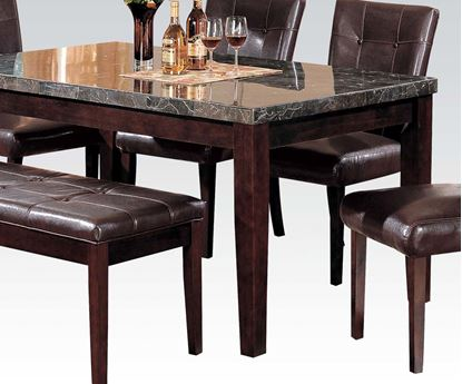 Picture of Danville Black Rectangular Marble Top Dining Table