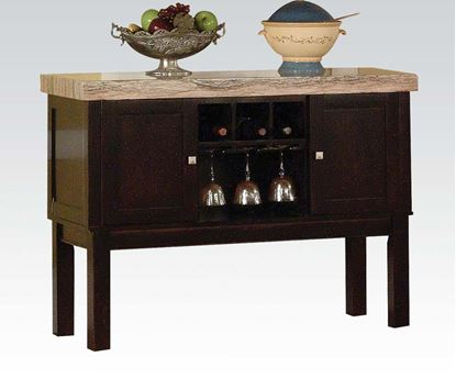 Picture of Modern Fraser Faux Marble Top Server