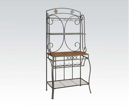 Picture of Hakesa Cherry & Antique Black Baker's Rack