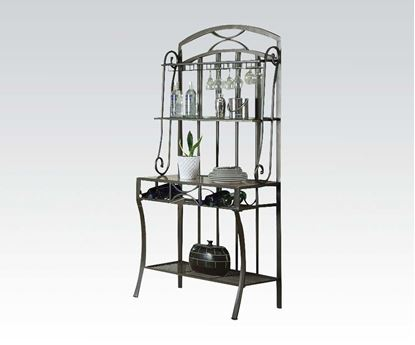 Picture of Daisy White Faux Marble Top  Baker's Rack