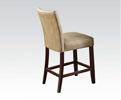 Picture of Cream PU Counter Height 2Pcs. Dining Chair by    (Set of 2)