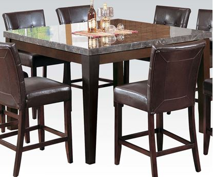 Picture of Danville Square Counter Height Table with Brown Marble Top
