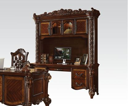 Picture of Vendome 2 Piece Credenza and Hutch / Bookcase in Cherry