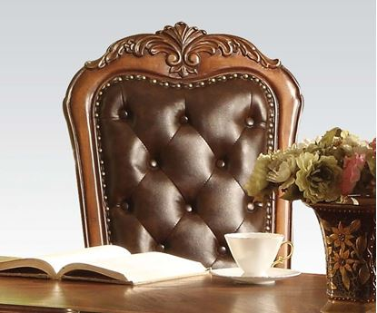 Picture of Dresden Traditional Cherry Solid Wood Bycast Leather Chair