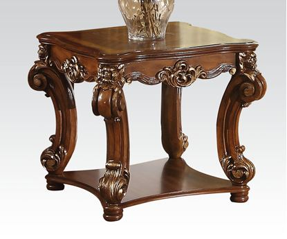 Picture of Traditional Cherry End Table with Shelf