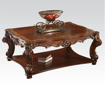Picture of Traditional Cherry Square Coffee Table with Shelf