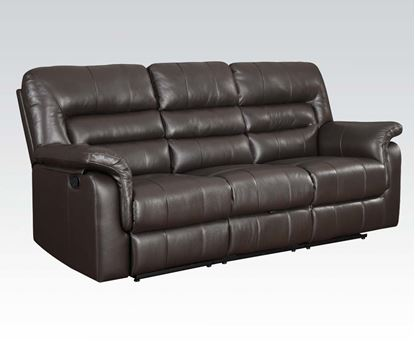 Picture of Modern Dark Brown Bonded Leather Motion Sofa