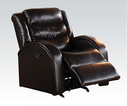 Picture of Modern Espresso Bonded Leather Rocker Recliner