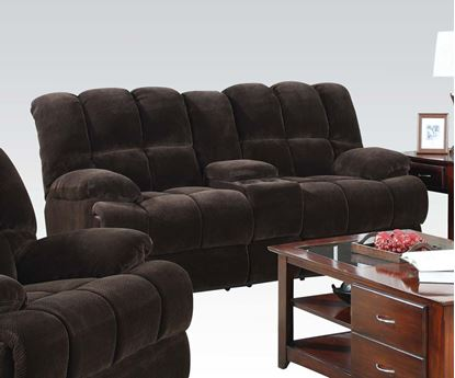 Picture of Ahearn Chocolate Champion Fabric Loveseat
