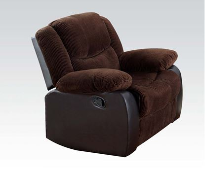 Picture of Bernal Chocolate Corduroy & PU Recliner Chair