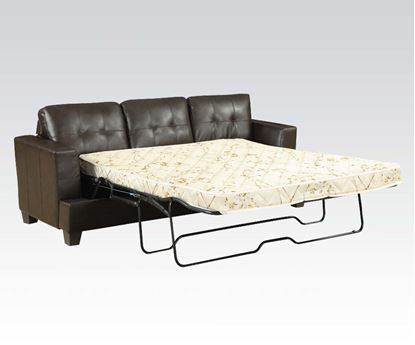 Picture of Diamond Brown Bonded Leather Sofa w/Queen Sleeper Set