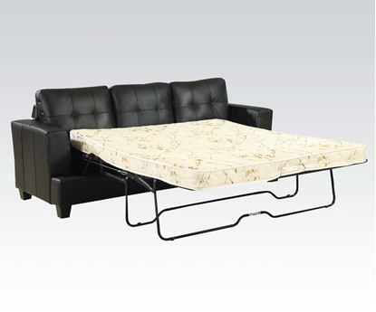 Picture of Diamond Black Bonded Leather Sofa w/Queen Sleeper Set