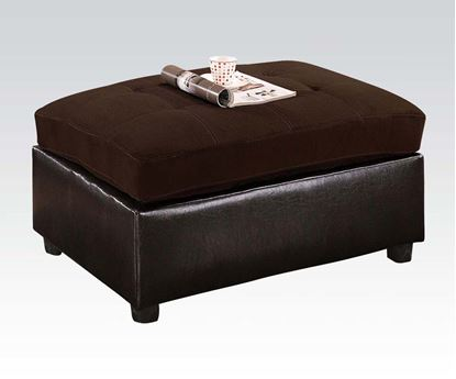 Picture of Milano Chocolate Microfiber Ottoman by  51325