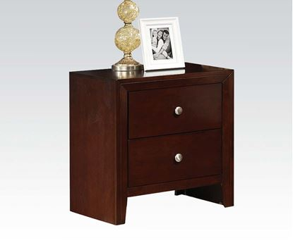 Picture of Contemporary ilana Brown Cherry Finish Nightstand