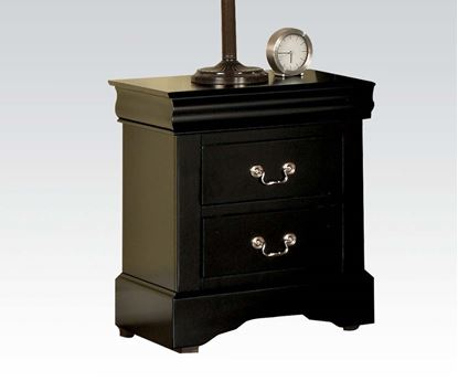 Picture of Louis Philippe III Black Finish 2 Drawer Nightstand
