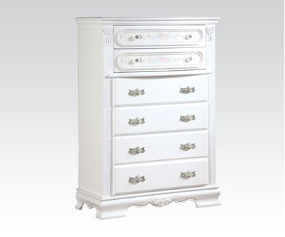 Picture of Flora White Finish Drawer Chest