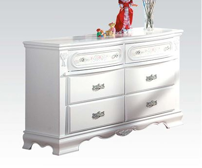 Picture of Flora White Drawer Dresser