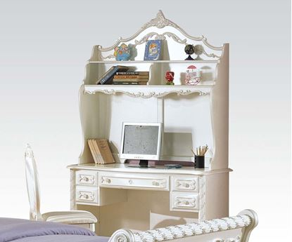 Picture of Pearl White Finish Wood Student Desk