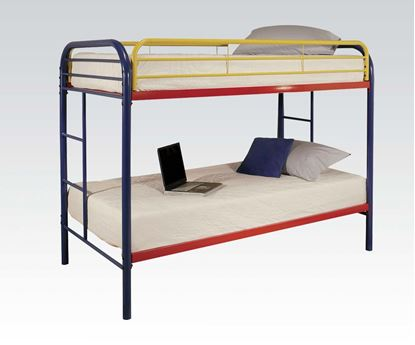 Picture of Metal Red Twin over Twin Bunk Bed