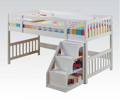 Picture of Cutie Twin Size Loft Bed in White Finish