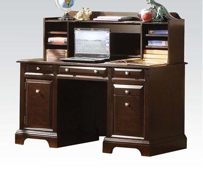 Picture of Contemporary Espresso Finish Desk and Hutch w/  2 Doors   96