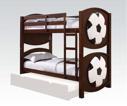 Picture of All Star Youth Soccer Twin over Twin Bunk Bed in Espresso Finish