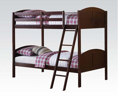 Picture of Toshi Dark Cherry Twin over Twin Bunk Bed