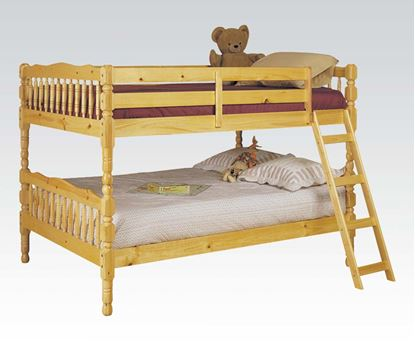 Picture of Natural Finish Full over Full Convertible Bunk Bed