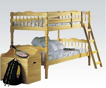 Picture of Homestead Oak Finish Twin over Twin Bunk Bed