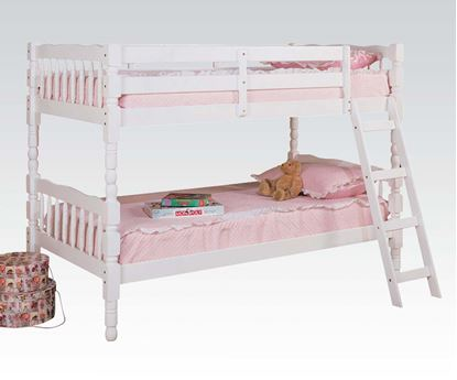 Picture of White Finish Twin Twin Convertible Bunk Bed  02290
