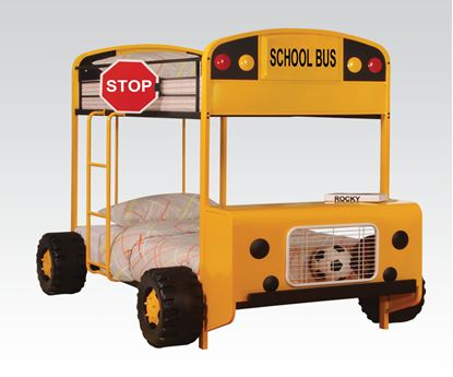 Picture of Yellow School Bus Bunkbed
