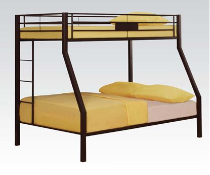 Picture of Modern Brown Twin Full Bunk Bed