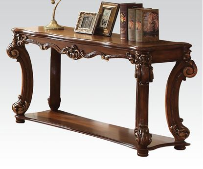 Picture of Traditional Cherry Sofa Table with Shelf