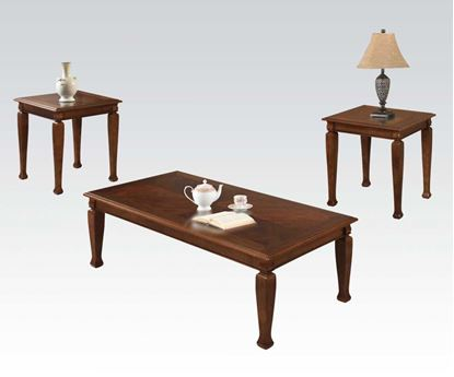 Picture of Modern 3 Pieces Cherry Coffee Table Set