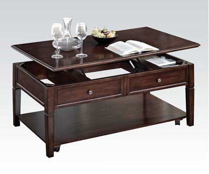 Picture of Malachi Walnut Finish Coffee Table With Lift Top