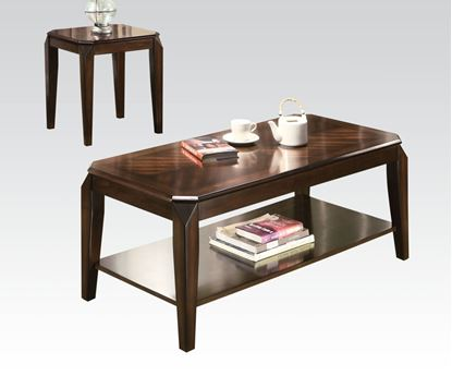 Picture of Modern 3 Pieces Walnut Coffee Table Set  80255
