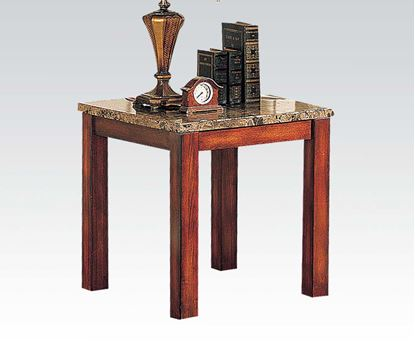 Picture of Bologna Brown Marble Top End Table