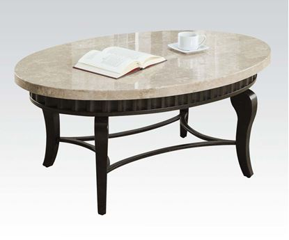 Picture of Lorencia Marble Top Coffee Table with White Top
