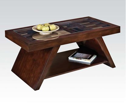 Picture of Jelani Coffee Tablein Dark Brown Cherry Finish