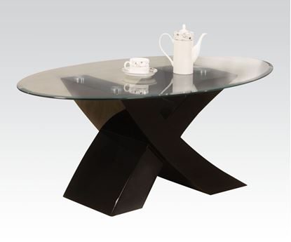 Picture of Black Finish Glass Top Coffee Table