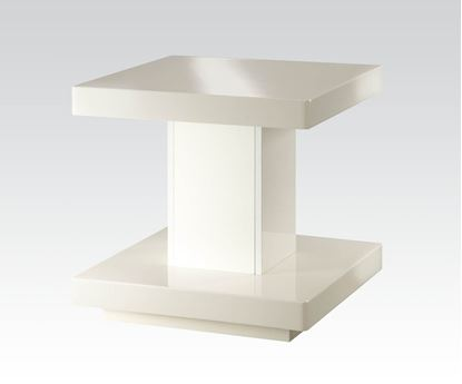 Picture of Cleon End Table in White Finish