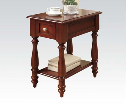 Picture of Corin Side Table with Drawer in Cherry Finish