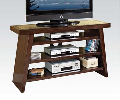 Picture of Jelani TV Stand in Brown Cherry Finish