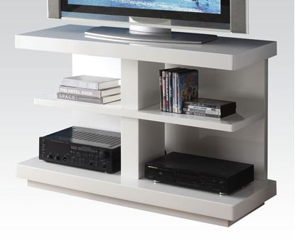 Picture of Modern White Finish TV Stand