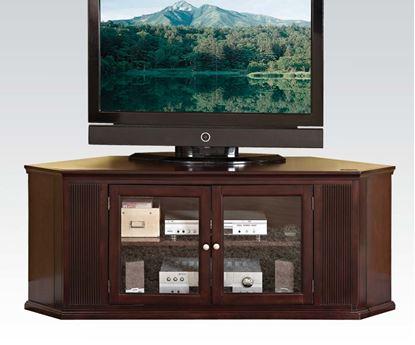 Picture of Matope Corner Unit Espresso Finish Wood TV Stand