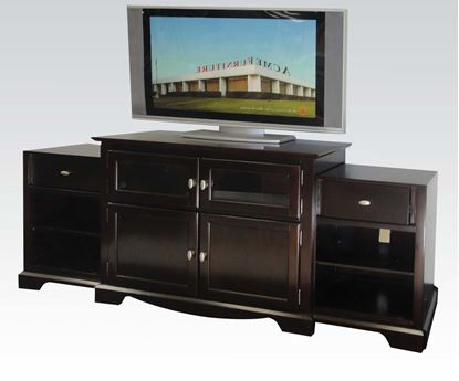 Picture of Modern Espresso 4 Door 6 Drawer TV Stand