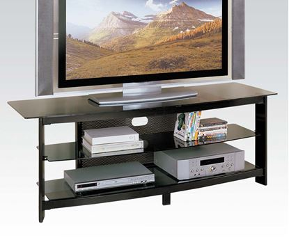 Picture of Horizon Black Finish Modern Contemporary Glass TV Stand